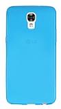 LG X screen Ultra İnce Şeffaf Mavi Silikon Kılıf