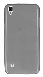 LG X Style Ultra İnce Şeffaf Siyah Silikon Kılıf
