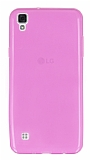 LG X Style Ultra İnce Şeffaf Pembe Silikon Kılıf