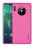 Eiroo Line Huawei Mate 30 Pro Pembe Silikon Kılıf