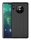 Eiroo Line Huawei Mate 30 Pro Siyah Silikon Kılıf