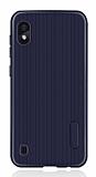 Eiroo Line Samsung Galaxy A10 Lacivert Silikon Kılıf