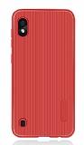 Eiroo Line Samsung Galaxy A10 Kırmızı Silikon Kılıf