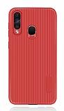 Eiroo Line Samsung Galaxy A60 Kırmızı Silikon Kılıf