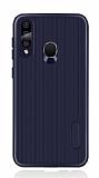 Eiroo Line Samsung Galaxy A60 Lacivert Silikon Kılıf
