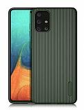 Eiroo Line Samsung Galaxy A71 Yeşil Silikon Kılıf
