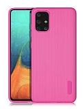 Eiroo Line Samsung Galaxy A71 Pembe Silikon Kılıf