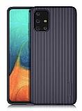 Eiroo Line Samsung Galaxy A71 Lacivert Silikon Kılıf