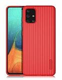 Eiroo Line Samsung Galaxy A71 Kırmızı Silikon Kılıf