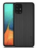 Eiroo Line Samsung Galaxy A71 Siyah Silikon Kılıf