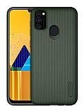 Eiroo Line Samsung Galaxy M30S Yeşil Silikon Kılıf