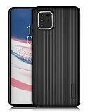 Eiroo Line Samsung Galaxy Note 10 Lite Siyah Silikon Kılıf