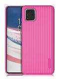 Eiroo Line Samsung Galaxy Note 10 Lite Pembe Silikon Kılıf