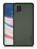 Eiroo Line Samsung Galaxy Note 10 Lite Yeşil Silikon Kılıf