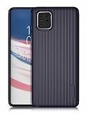 Eiroo Line Samsung Galaxy Note 10 Lite Lacivert Silikon Kılıf