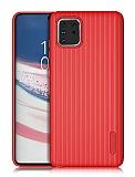 Eiroo Line Samsung Galaxy Note 10 Lite Kırmızı Silikon Kılıf