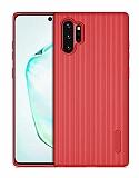 Eiroo Line Samsung Galaxy Note 10 Plus Kırmızı Silikon Kılıf
