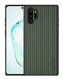 Eiroo Line Samsung Galaxy Note 10 Plus Yeşil Silikon Kılıf