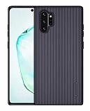 Eiroo Line Samsung Galaxy Note 10 Plus Lacivert Silikon Kılıf