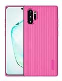 Eiroo Line Samsung Galaxy Note 10 Plus Pembe Silikon Kılıf