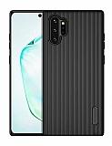 Eiroo Line Samsung Galaxy Note 10 Plus Siyah Silikon Kılıf