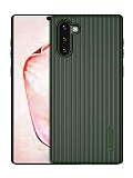 Eiroo Line Samsung Galaxy Note 10 Yeşil Silikon Kılıf