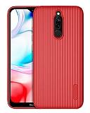 Eiroo Line Xiaomi Redmi 8 Kırmızı Silikon Kılıf