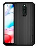 Eiroo Line Xiaomi Redmi 8 Siyah Silikon Kılıf