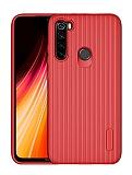 Eiroo Line Xiaomi Redmi Note 8 Kırmızı Silikon Kılıf