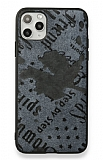 Eiroo Linen iPhone 11 Pro Mavi Silikon Kılıf