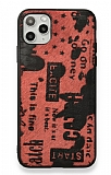Eiroo Linen iPhone 11 Pro Kırmızı Silikon Kılıf