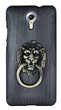 Eiroo Lion Ring General Mobile Android One / General Mobile GM 5 Selfie Yüzüklü Dark Silver Rubber Kılıf