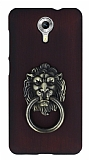 Eiroo Lion Ring General Mobile Android One / General Mobile GM 5 Selfie Yüzüklü Bordo Rubber Kılıf