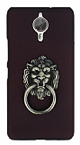 Eiroo Lion Ring General Mobile GM 5 Plus Selfie Yüzüklü Bordo Rubber Kılıf
