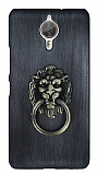 Eiroo Lion Ring General Mobile GM 5 Plus Selfie Yüzüklü Dark Silver Rubber Kılıf
