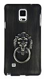 Eiroo Lion Ring Samsung Galaxy Note 4 Selfie Yüzüklü Yeşil Rubber Kılıf