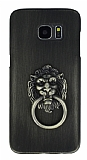Eiroo Lion Ring Samsung Galaxy S7 Edge Selfie Yüzüklü Yeşil Rubber Kılıf