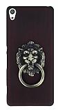 Eiroo Lion Ring Sony Xperia XA Selfie Yüzüklü Bordo Rubber Kılıf