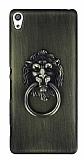Eiroo Lion Ring Sony Xperia XA Selfie Yüzüklü Yeşil Rubber Kılıf