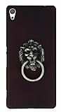 Eiroo Lion Ring Sony Xperia XA Ultra Selfie Yüzüklü Bordo Rubber Kılıf