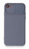 Eiroo Liquid Camera iPhone 7 / 8 Kamera Korumalı Gri Kılıf