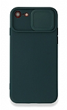 Eiroo Liquid Camera iPhone 7 / 8 Kamera Korumalı Yeşil Kılıf