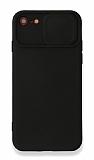 Eiroo Liquid Camera iPhone 7 / 8 Kamera Korumalı Siyah Kılıf