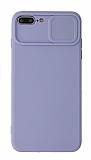Eiroo Liquid Camera iPhone 7 Plus / 8 Plus Kamera Korumalı Mor Kılıf