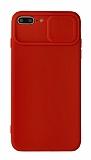 Eiroo Liquid Camera iPhone 7 Plus / 8 Plus Kamera Korumalı Kırmızı Kılıf