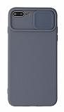 Eiroo Liquid Camera iPhone 7 Plus / 8 Plus Kamera Korumalı Gri Kılıf