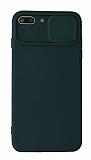 Eiroo Liquid Camera iPhone 7 Plus / 8 Plus Kamera Korumalı Yeşil Kılıf