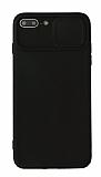 Eiroo Liquid Camera iPhone 7 Plus / 8 Plus Kamera Korumalı Siyah Kılıf