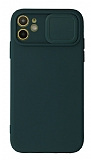 Eiroo Liquid Camera iPhone 11 Kamera Korumalı Yeşil Kılıf
