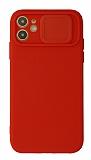 Eiroo Liquid Camera iPhone 11 Kamera Korumalı Kırmızı Kılıf